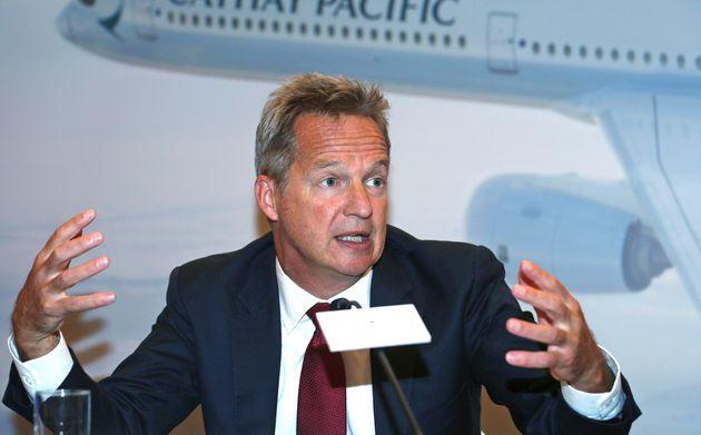 キャセイパシフィック航空のCEOを19日付で辞任することを発表した、ルパート・ホッグ氏