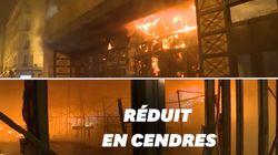 Les images de l'incendie qui a ravagé le marché de