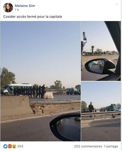 La circulation automobile vers Alger