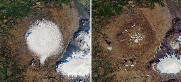 Islanda fa il funerale al ghiacciaio Okjokull ormai