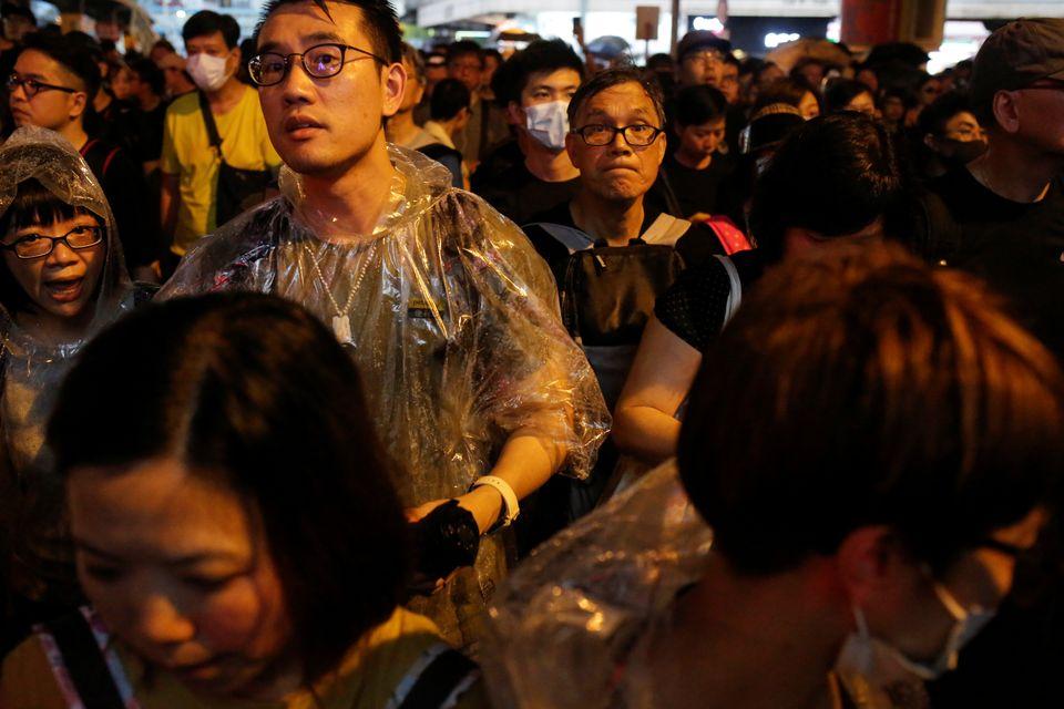 홍콩 시민들은 민주주의와 정치 개혁을 촉구했다. 홍콩. 2019년