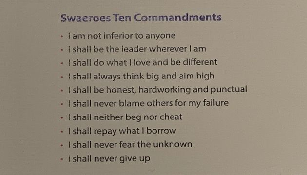 The 10 commandments can be found on cards, on bulletin boards, and printed in magazines, among other