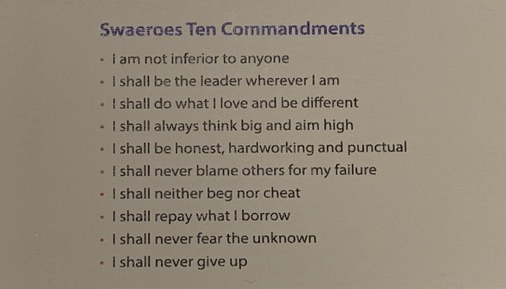 The 10 commandments can be found on cards, on bulletin boards, and printed in magazines, among other places.
