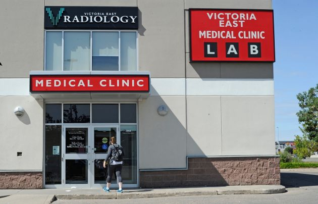 Victoria East Medical Clinic is pictured in Regina, Sask., on Sunday.