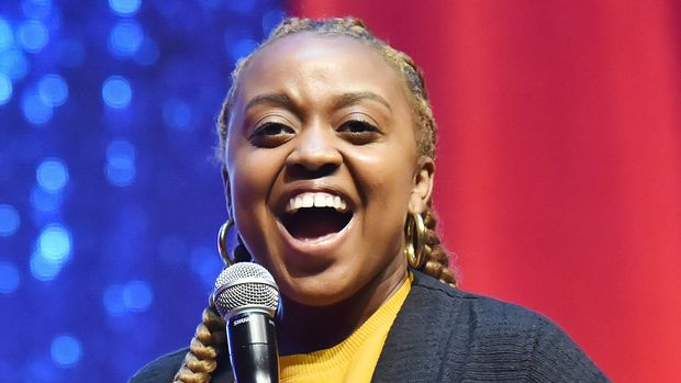 SAN FRANCISCO, CALIFORNIA - JUNE 21: Quinta Brunson performs onstage at the 2019 Clusterfest on June 21, 2019 in San Francisco, California. (Photo by Jeff Kravitz/FilmMagic for Clusterfest)
