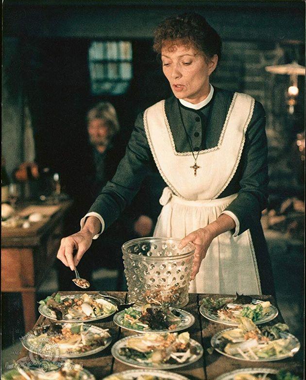 Stéphane Audran como a cozinheira francesa Babette no filme A Festa de Babette.