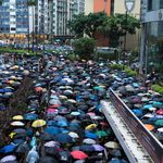 Hundreds Of Thousands Of Hong Kong Protesters March Through Heavy
