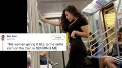 People Are Celebrating The Work That Went Into This Woman's Subway Selfie Photo