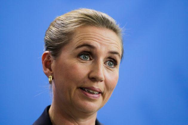 Mette Frederiksen, primera ministra de Dinamarca, el pasado 11 de julio durante una rueda de prensa en