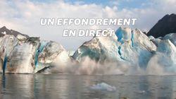 Ces kayakistes filment l'effondrement d'un glacier et frôlent la