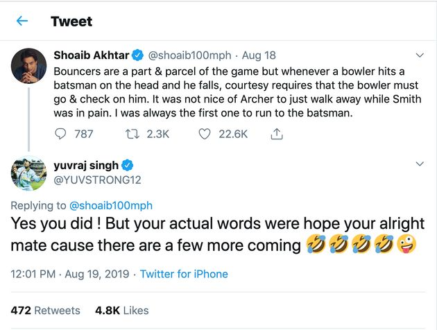 Yuvraj Singh Responds To Shoaib Akhtar After He Slammed Jofra