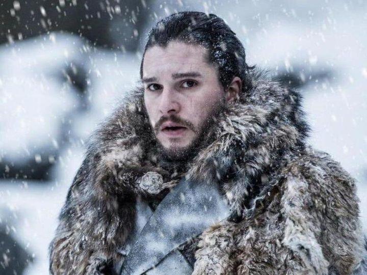 Kit Harington as Jon Snow... in the actual snow