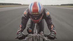 Ποδηλάτης «έπιασε» τα 280 χλμ/
