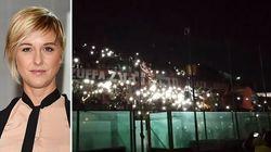Il blackout spegne lo stadio di Taranto e accende la dedica dei tifosi per Nadia Toffa
