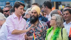Trudeau, Singh, May March Together In Montreal Pride