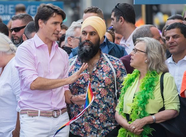 Trudeau, Singh, May March Together Again In Montreal Pride Parade