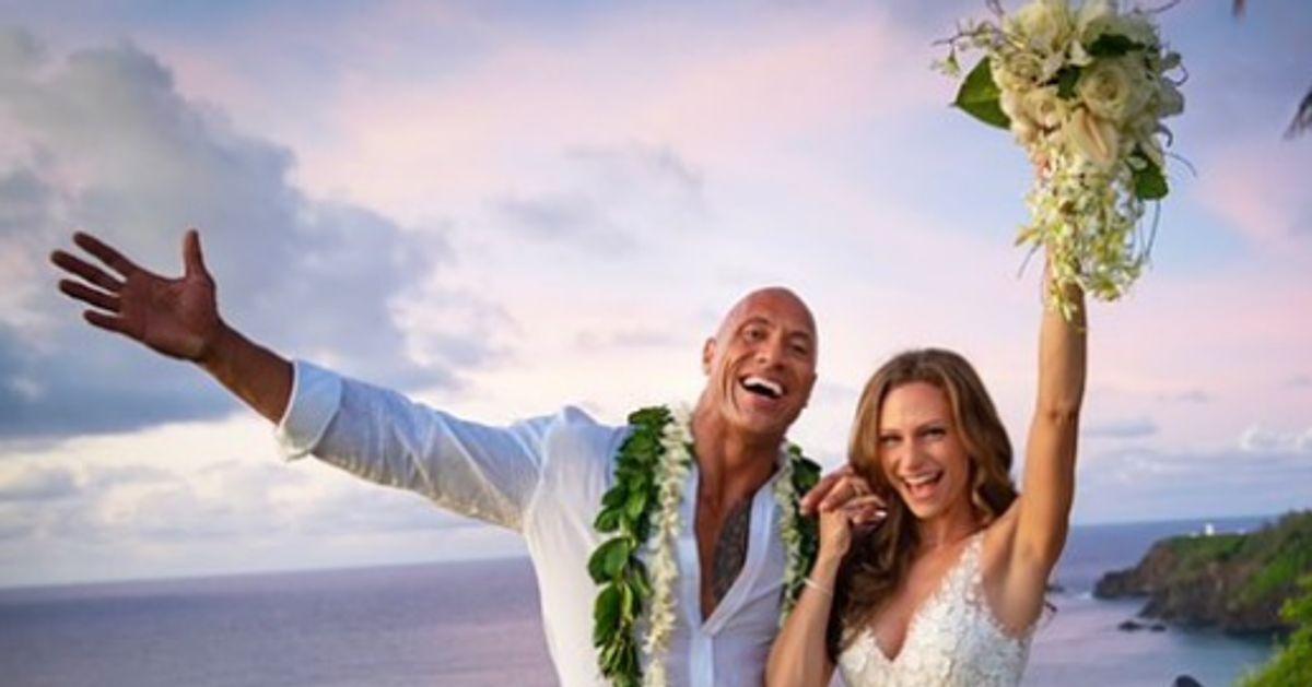 The Rock s'est marié avec la chanteuse Lauren Hashian