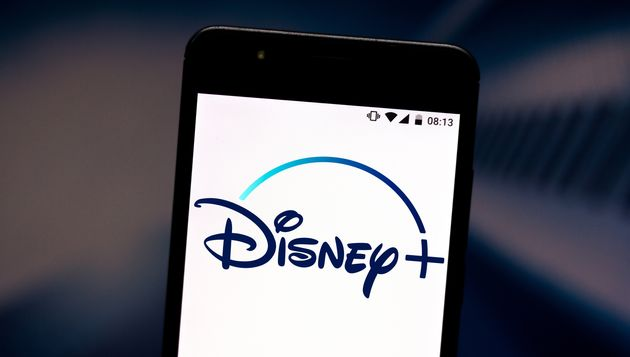 A Disney+ logo is pictured on a
