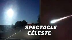 Cette impressionnante météorite a transpercé le ciel