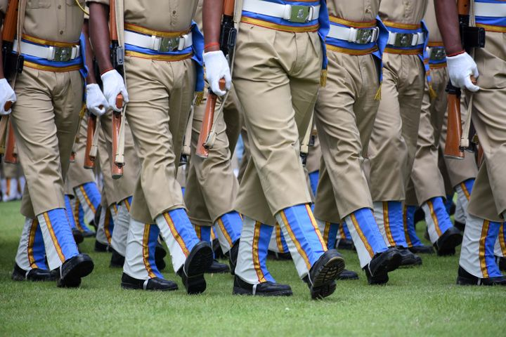 File Photo of Indian soldiers at a military parade.