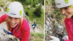 L'arrampicata di Michelle Hunziker sotto attacco sui social: