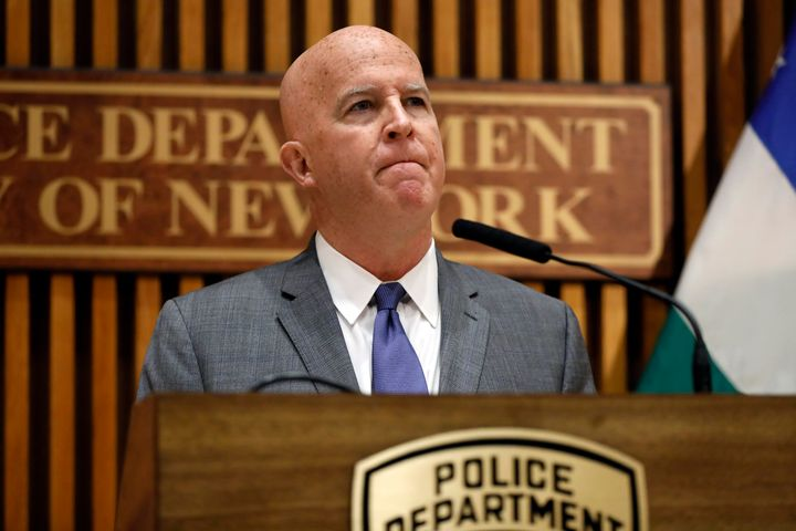 NYPD Commissioner James O'Neill announcing his decision to fire Daniel Pantaleo.