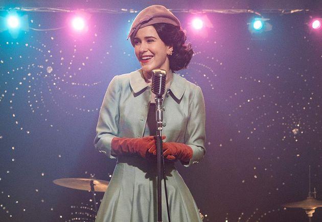 Rachel Brosnahan comoMiriam 'Midge' Maisel emThe Marvelous Mrs.