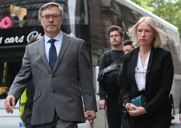 John Letts and Sally Lane, the parents of Jack Letts, arrive at the Old Bailey,