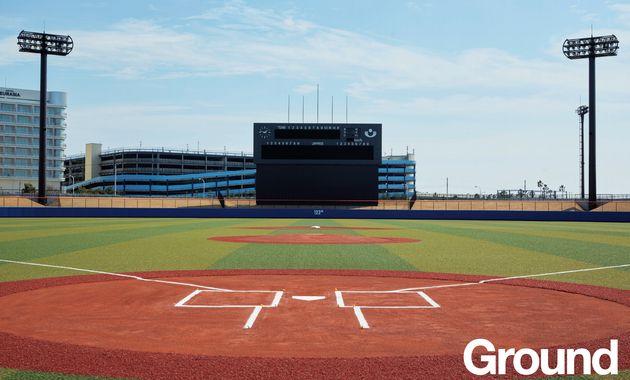 浦安市運動公園野球場。2018年にはプロ野球のイースタンリーグ(二軍戦)を開催した実績もある球場だ。