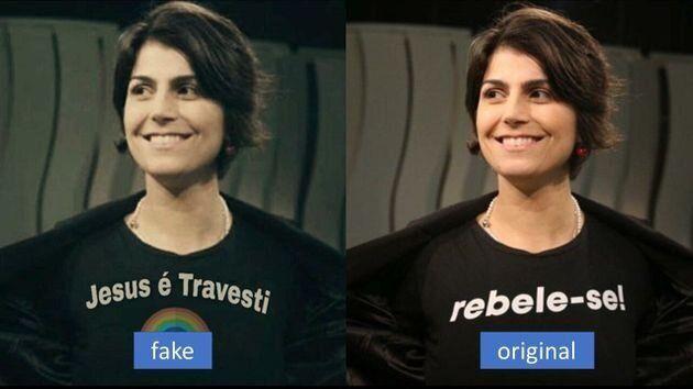Foto manipulada de Manuela D'Avila é um exemplo das táticas utilizadas pelos grupos...