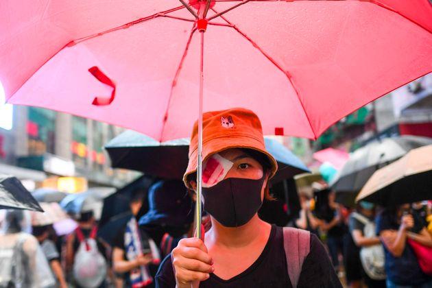 デモ参加者(8月18日)