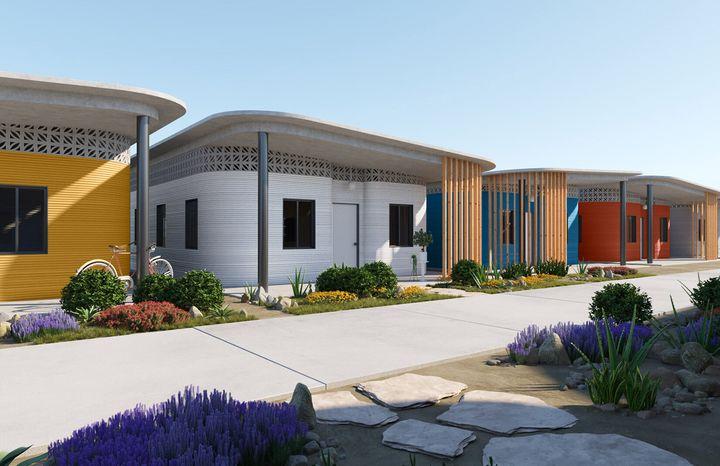 이브 베하가 디자인한 3D 프린팅 빌리지