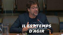 Javier Bardem réclame à l'ONU un traité mondial pour protéger les