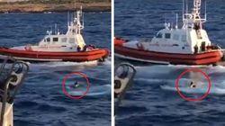 Migrante si getta in mare da Open Arms. La Guardia Costiera lo recupera