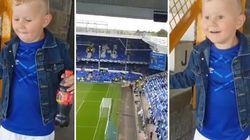 La prima volta non si scorda mai: la gioia del piccolo tifoso allo stadio