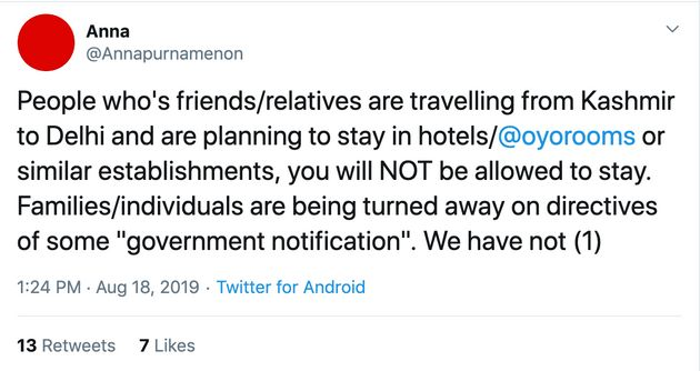 Kashmiris Denied Hotel Rooms In Delhi, OYO Begins