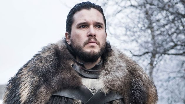 Kit in character as Jon