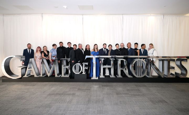 The cast and crew of Game Of Thrones.