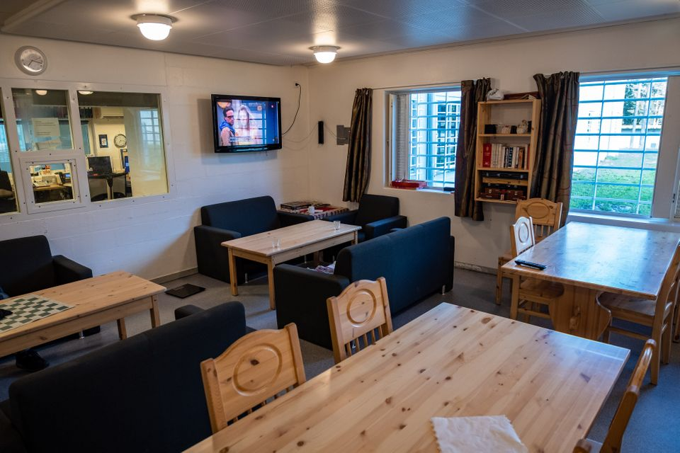 One of the dining areas at