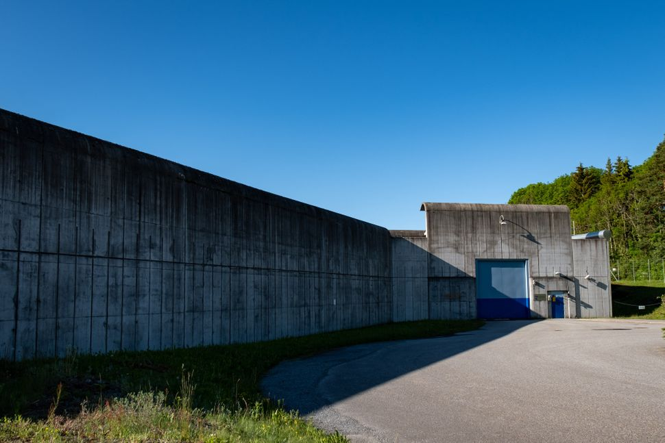 The entrance to Ringerike. For all its picturesque charm, the prison is still encircled with 23-foot concrete walls.