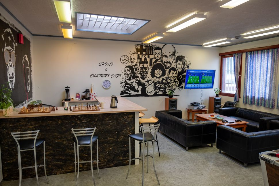 """The """"sport & culture café"""" at Romerike Prison, about 20 miles outside Oslo, where inmates can spend some of their"""
