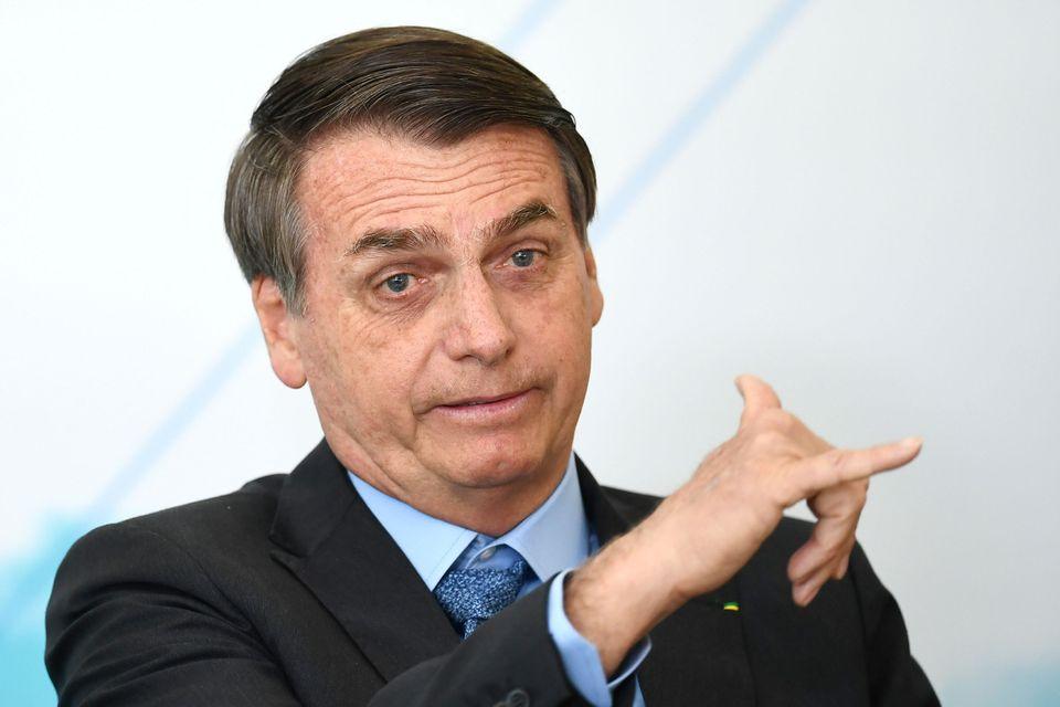 El presidente brasileño, Jair Bolsonaro, durante un acto en agosto de