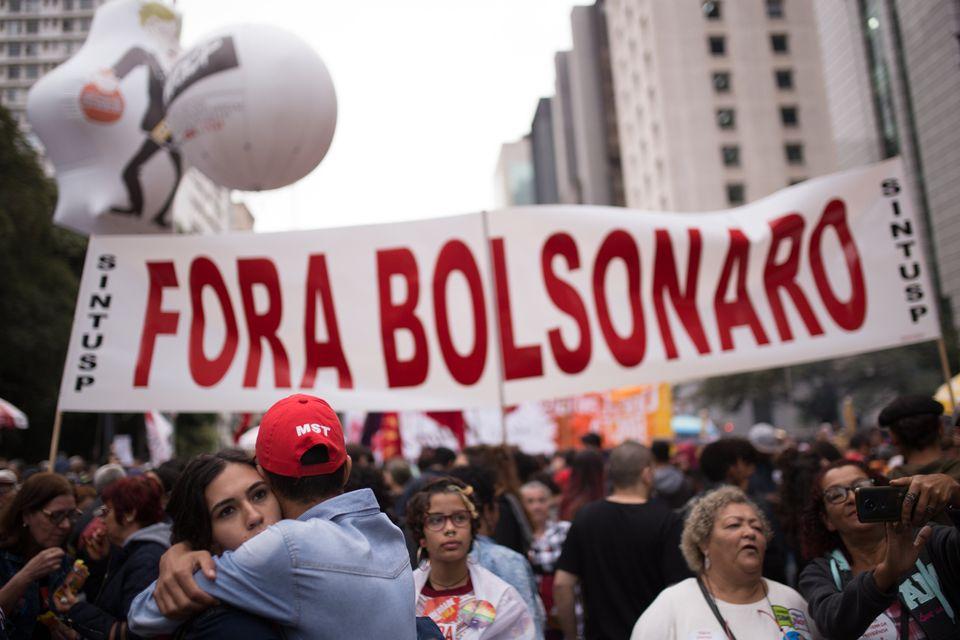 Protestas contra los recortes en Educación del Gobierno de Bolsonaro. Brasilia, 13 de agosto de