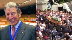 """""""Ciao campione"""", l'ultimo commosso saluto a Gimondi e l'applauso dei suoi tifosi"""