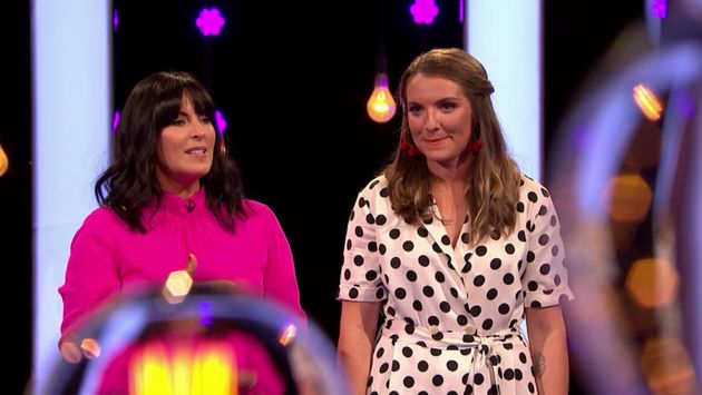 Millie on Naked Attraction with presenter Anna