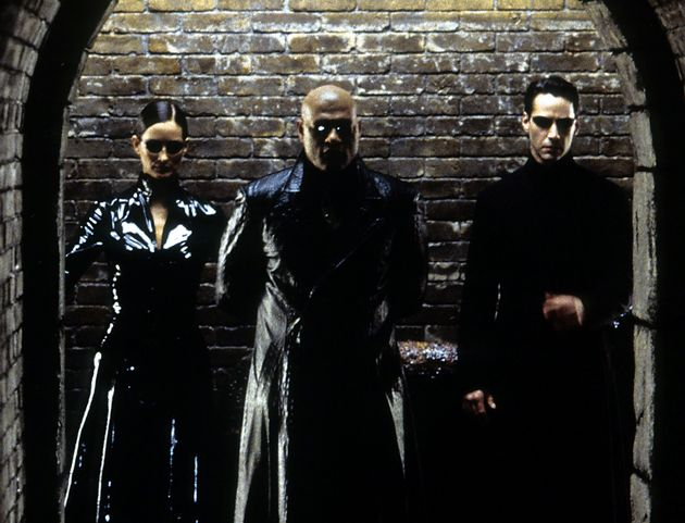 Carrie-Ann Moss, Laurence Fishburne and Keanu Reeves in