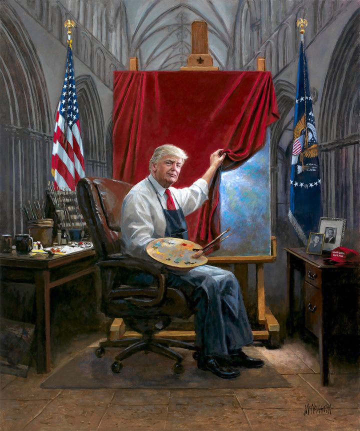 Twitter Users Mock Latest Trump Painting By Right-Wing Artist Jon McNaughton