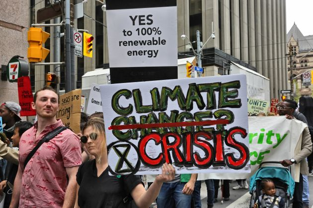 Hundreds of Canadian children and youth took part in a massive protest march against climate change in...