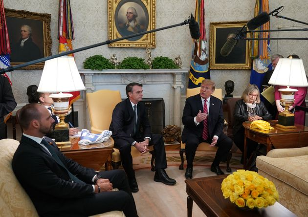 Eduardo é próximode dois dos herdeiros do presidente dos EUA - nenhum deles trabalha...