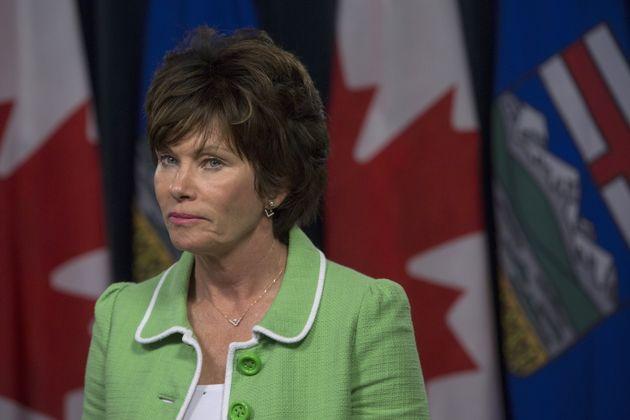 Minister of Energy Sonya Savage in Edmonton on June 18,